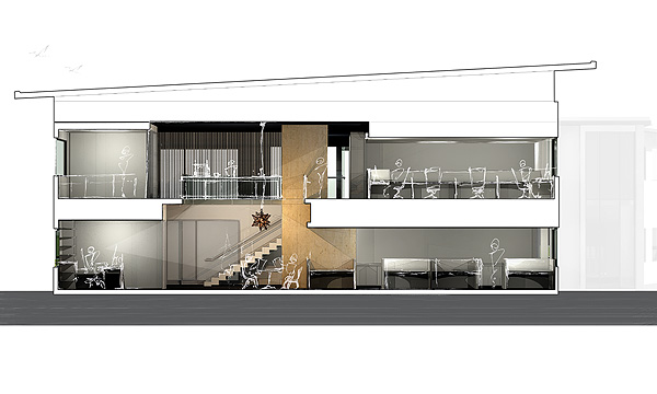 KOBP - Building 14 - Sectional Perspective